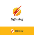 lightning bolt logo vector image