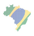 map of brazil with flag vector image vector image