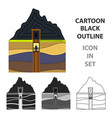 mine shaft icon in cartoon style isolated on white vector image