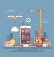 mobile application web development cell smart vector image vector image