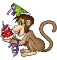 monkey happy birthday vector image vector image