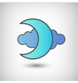 moon and cloud icon isolated vector image vector image