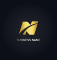 n initial business company gold logo vector image vector image