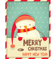 new year snowman vector image vector image