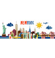new york flat travel vector image