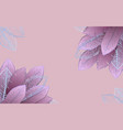 pale pink frame with blue tropical leaves vector image vector image