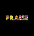 praise concept word art vector image vector image