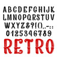 retro decorative font full symbols and letters vector image vector image
