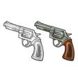 Revolver with short barrel engraving