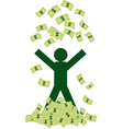 Rich man with money vector image vector image