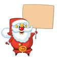 santa claus character holding a sign vector image