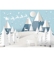 santa claus on the sky with vector image