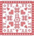 Scandinavian Nordic with penguin tile vector image vector image