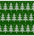 Seamless knitted pattern with Christmas trees vector image