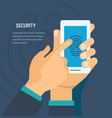 security concept security of personal data vector image vector image
