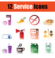 service icon set vector image