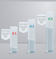 set 3d columns with tabs vector image vector image