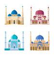 set four mosques arabic religion vector image