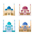 set of four mosques arabic religion vector image vector image