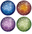 set of four multicolored decorative Christmas vector image vector image