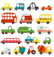set of isolated transports vector image vector image