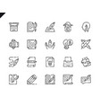 simple set copywriting line icons for website vector image