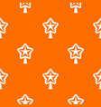star for christmass tree pattern seamless vector image