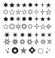 star shapes symbol icon vector image vector image