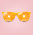 sunglasses with orange and pink background vector image vector image