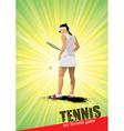 Tennis players in action vector image vector image
