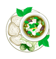 Thai Green Curry with Thai Rice Vermicelli vector image