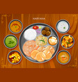 traditional haryanavi cuisine and food meal thali vector image vector image