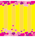 valentine yellow background design vector image vector image