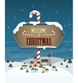 Welcome to Christmas vector image vector image