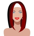 Young woman with beautiful blue eyes vector image