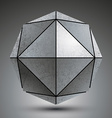 Zink geometrical 3d object isolated on white vector image
