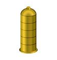 Golden condom Precious metal contraceptive vector image