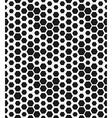 hexagon monochrome seamless geometrical pattern vector image