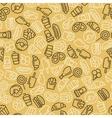 Fast food Set of cartoon seamless pattern vector image