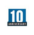 10th anniversary icon birthday logo vector image vector image