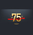 75th year anniversary background vector image vector image