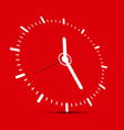 Abstract Clock on Red Background vector image vector image