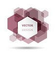 abstract maroon hexagon banner background template