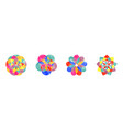 abstract watercolor mandala flower set isolated vector image