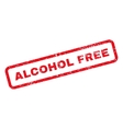 Alcohol Free Text Rubber Stamp vector image vector image