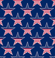 American stars seamless pattern vector image