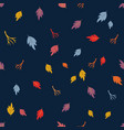 autumn seamless pattern with bright leaves twigs vector image