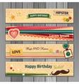 Banner happy birthday vector image vector image