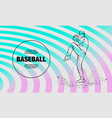 baseball pitcher getting ready to throw ball vector image vector image
