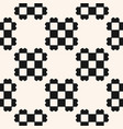 black and white geometric checkered seamless vector image vector image